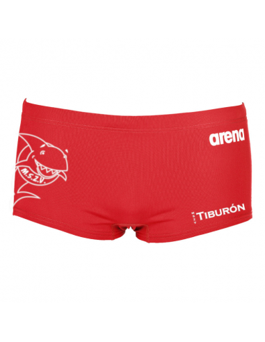 Arena M Solid Squared Short Red White Tiburón