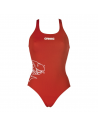 Arena W Solid Swim Pro Red White Tiburón