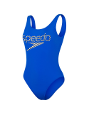 Speedo Logo Deep U back Blue White