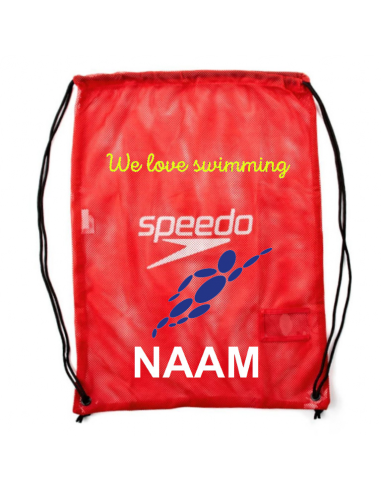 Robsport X Speedo Equipment Mesh Bag Red