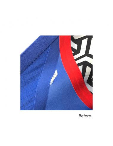 Repair tear in fabric smaller than 3 cm