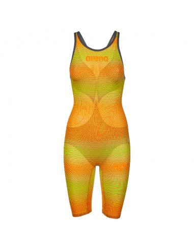 Arena Carbon Air 2 Openback Kneeskin Lime Orange