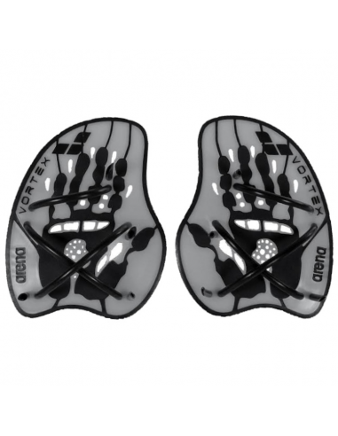 Arena Vortex Evolution Hand Paddle Black Grey