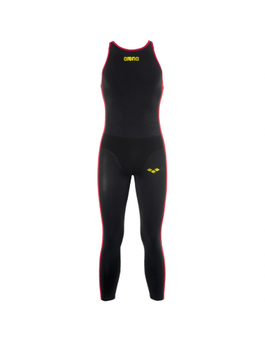 Arena OW Mens R-evo Full Body Black Fluo Yellow Closed Back