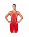Speedo LZR X Openback Kneeskin Red Black