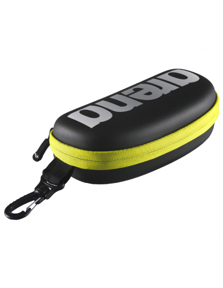 Arena Goggle Case Black Silver Fluo Yellow