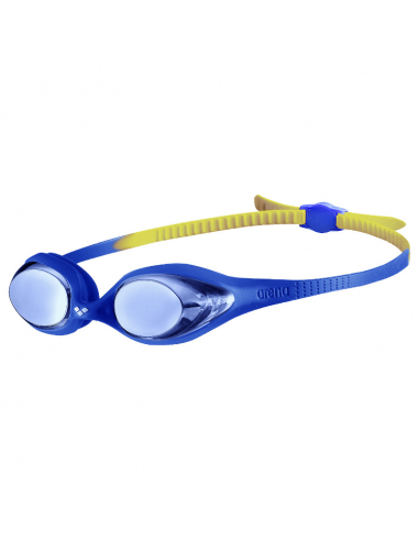 Arena Spider Junior Mirror Goggle Blue Blue Yellow