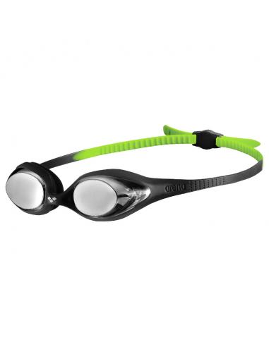 Arena Spider Junior Mirror Goggle Black Silver Green