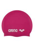 Arena Classic Silicone Cap Fuchsia White