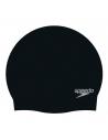 Speedo Plain Moulded Silicone Cap Black