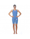 Arena R-evo One Openback Kneeskin Blue Powder Pink