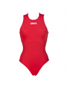 Arena Solid Waterpolo One Piece Red White