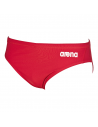 Arena Brief Solid Red White