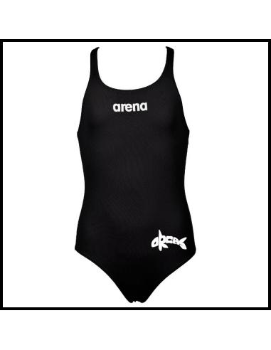 Arena ZV Orca Solid Swim Pro One Piece Black White