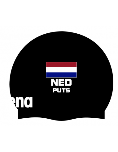 Arena Moulded Cap Ned Flag Black + Naam