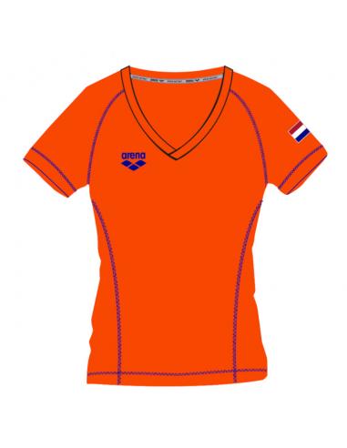 Arena W Nederland signature SS Tee Orange