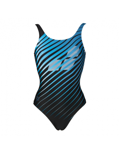 Arena Flicker U Back One Piece Black Multi