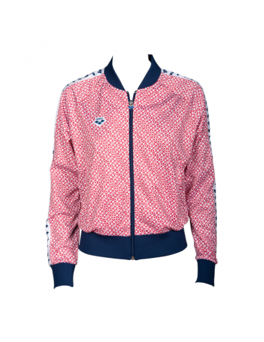 Arena W Relax IV Team Jacket Diamonds Red Navy