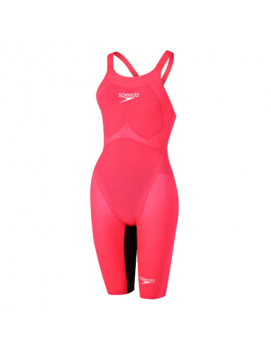 Speedo LZR Valor Openback Kneeskin Red Black